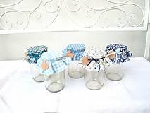 Úžitkový textil - Čučoriedková - Čiapočky na zaváraniny - sada modrá - 11022960_