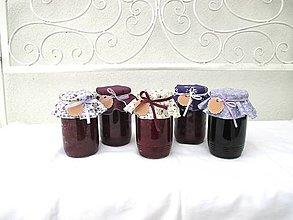 Úžitkový textil - Černicová - Čiapočky na zaváraniny - sada fialová - 11022951_