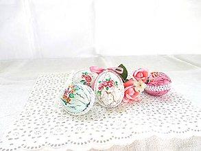 Dekorácie - Veľkonočné popraskané vajíčka ako v perinke - 11022986_