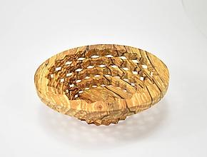 Nádoby - Drevená miska 19cm špaltovaná jelša - 11022695_