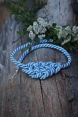 Náhrdelníky - Uzlový náhrdelník modrý svetlý - 11022901_