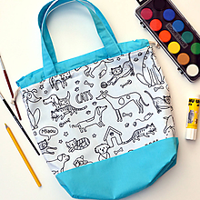 Detské tašky - Tvoritaška na výtvarnú tyrkysová - 11021894_