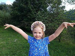 Ozdoby do vlasov - Kvetinovy vencek do vlasov s hortenziami - 11021957_
