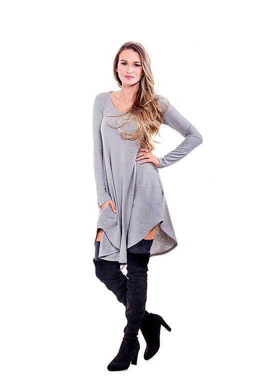 Šaty - Šaty s vreckami - 11023088_
