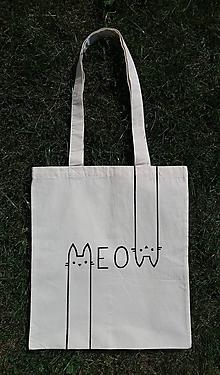 Nákupné tašky - Taška MEOW - 11021704_
