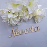 Dekorácie - Vyrezávaný nápis Nevesta - 11022097_
