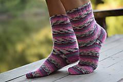 Obuv - ružový melír - s pravej ponožkovej vlny (v.39-40) - 11022776_