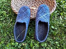 Obuv - Pánske vlnené plstené papuče - 11021783_