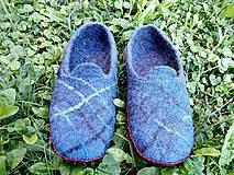 Obuv - Pánske vlnené plstené papuče - 11021785_
