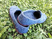 Obuv - Pánske vlnené plstené papuče - 11021786_