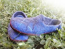 Obuv - Pánske vlnené plstené papuče - 11021790_