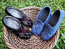 Obuv - Pánske vlnené plstené papuče - 11021792_