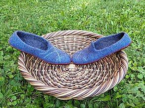 Obuv - Pánske vlnené plstené papuče - 11021784_