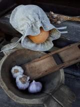 Úžitkový textil - Vidiecke ľanové vrecúško - 11022335_