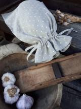 Úžitkový textil - Vidiecke ľanové vrecúško - 11022336_