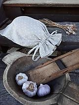 Úžitkový textil - Vidiecke ľanové vrecúško - 11022337_