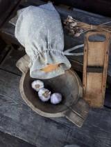 Úžitkový textil - Vidiecke ľanové vrecúško - 11022338_