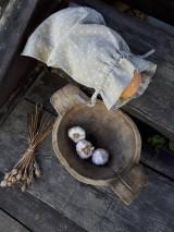 Úžitkový textil - Vidiecke ľanové vrecúško - 11022339_