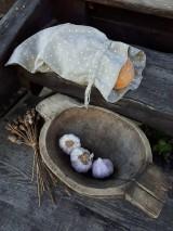 Úžitkový textil - Vidiecke ľanové vrecúško - 11022340_
