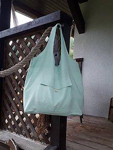 Nákupné tašky - Ľanová taška na nákupy - 11022352_