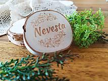 Darčeky pre svadobčanov - Svadobné magnetky, menovky - vôňa prírody - 11024073_