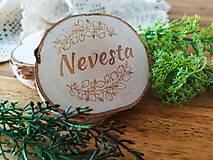 Darčeky pre svadobčanov - Svadobné magnetky, menovky - vôňa prírody - 11024074_