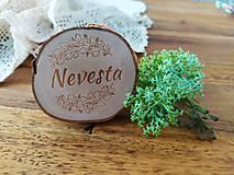 Darčeky pre svadobčanov - Svadobné magnetky, menovky - vôňa prírody - 11024080_