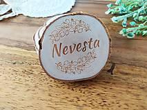 Darčeky pre svadobčanov - Svadobné magnetky, menovky - vôňa prírody - 11024081_
