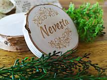 Darčeky pre svadobčanov - Svadobné magnetky, menovky - vôňa prírody - 11024082_