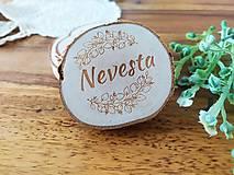 Darčeky pre svadobčanov - Svadobné magnetky, menovky - vôňa prírody - 11024083_