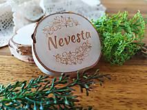 Darčeky pre svadobčanov - Svadobné magnetky, menovky - vôňa prírody - 11024084_
