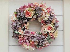 Dekorácie - Romantický veniec - 11024952_