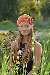 Detské čiapky - Čiapka tehlovej farby - 11025507_