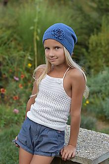 Detské čiapky - Modrá čiapka - Denim - 11025277_