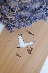 Papiernictvo - Drevené blahoželanie - Narodenie dieťaťa - 11023544_