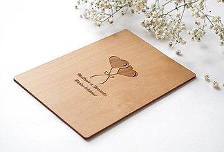 Papiernictvo - Drevené blahoželanie - Svadba - 11023511_