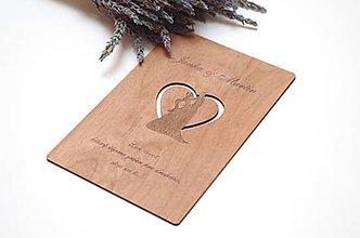 Papiernictvo - Drevené blahoželanie - Svadba (dvojica) - 11023532_
