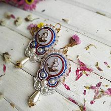 Náušnice - Vintage soutache earrings n.4 - sutaškové náušnice - 11025247_