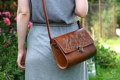 Kabelky - Kožená kabelka BOJANA •Čičmany• - 11023639_