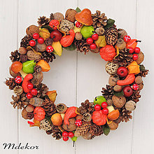 Dekorácie - Jesenný veniec - 11024835_