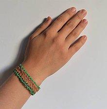 Náramky - kožený etno náramok, Egyptský africký náramok - 11023803_