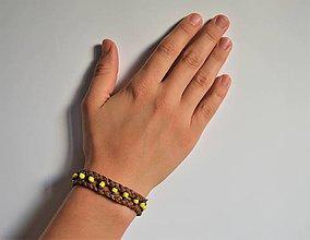 Náramky - kožený etno náramok, Egyptský africký náramok - 11023816_