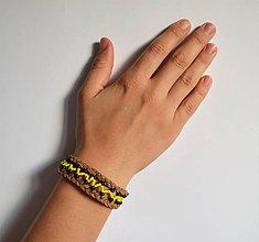 Náramky - kožený etno náramok, Egyptský africký náramok - 11023823_