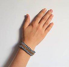 Náramky - kožený etno náramok, Egyptský africký náramok - 11023832_