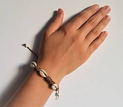 Náramky - kožený etno náramok, Egyptský africký náramok - 11023839_