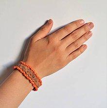 Náramky - kožený etno náramok, Egyptský africký náramok - 11023846_