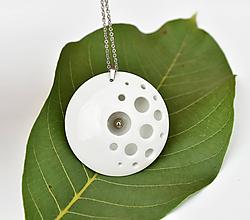 Náhrdelníky - Moon (porcelánový náhrdelník) - 11025152_