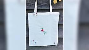 Iné tašky - ♥ Plátená, ručne vyšívaná taška ♥ - 11024397_