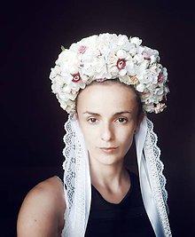 """Ozdoby do vlasov - Svadobná parta """"V bielom závoji"""" - 11023381_"""