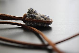 Náhrdelníky - Lapis lazuli - náhrdelník (hnedý) - 11023292_